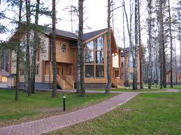 Log Cabin Luxury Homes Artichouse Hunting Lodge Russia