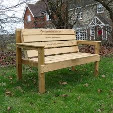 Memorial Benches Uk Personalised Garden Memorial Bench