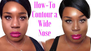 best hair for wide nose how to contour a wide nose blackchinabear youtube