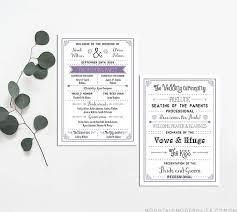 modern wedding program free printable wedding program mountainmodernlife