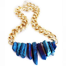handmade designer jewellery rocked up necklace sapphire blue shh by