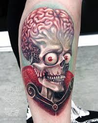 mars attack tattoo by javier antunez