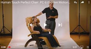 Human Touch Perfect Chair Pc 610 Human Touch Perfect Chair Cognac Leather Jade Heat Memory
