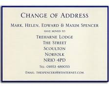 change of address cards new home cards moving house cards