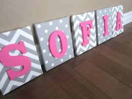 wall ideas hanging wall letters with ribbon big wood wall