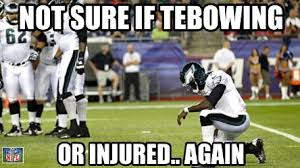 Mike Vick Memes - michael vick tebowing or injured daily snark