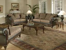 Ashley Sofas Ashley Sofa Love With Leather Arms And Wood Accent 1 All