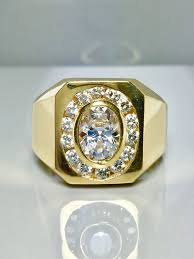 rings mens diamond images 14k solid gold men 39 s diamond rings 14k gold men 39 s etsy jpg