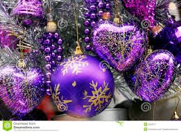 christmas decoration blue and silver baubles stock image image