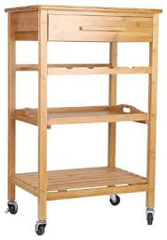 Kitchen Island With Wine Rack - rolling bamboo kitchen island storage bakers cart wine rack w