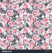 pink halloween background free pink roses spiders webs halloween repeating stock illustration