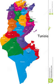 map of tunisia with cities tunisia map stock vector image of national outline abstract
