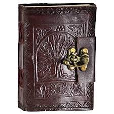 amazon com leather celtic tree of book of shadows blank