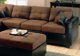 Black Microfiber Sectional Sofa With Chaise Attractive Chocolate Brown Sectional Sofa With Chaise 34 In Black