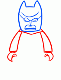 how to draw batman from the lego movie