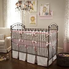 Baby Deer Nursery Bedroom Black Ribbons Color On Rails Closed Warm Blanket Closed