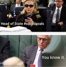 Hillary Clinton Texting Meme - malcolm turnbull is the star of a new instagram account taking the