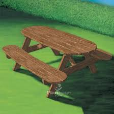 Designs For Wooden Picnic Tables by Best 25 Outdoor Picnic Tables Ideas On Pinterest Folding Picnic