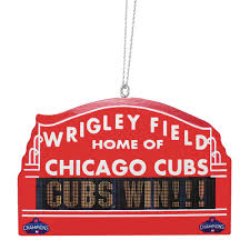 chicago cubs 2016 world series chions metal marquee sign ornament
