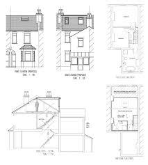 terraced house loft conversion floor plan house victorian terraced house plans