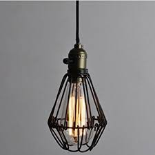 wire cage l shade vintage pendant light chandelier wire cage hanging lshade retro