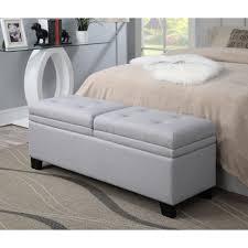bedroom furniture sets leather bench grey storage bench
