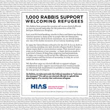 1 000 rabbis sign letter in support of welcoming refugees hias