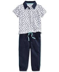 first impressions baby boys sailboat print polo u0026 pants set navy