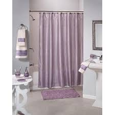 Mauve Shower Curtain Saturday Shimmer Stripe Purple Fabric Shower Curtain Home