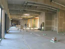 the building construction for the new restaurant interior design