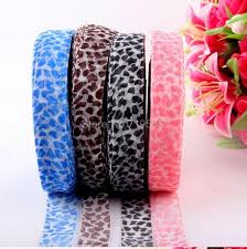 leopard ribbon lace snow leopard ribbon shadai transparent gauze diy wedding bow