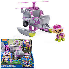 paw patrol basic vehicle skye stars copter action figure
