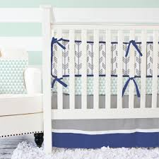 Blue Boy Crib Bedding Navy And Mint Arrow Baby Bedding Baby Bedding Gray Color And