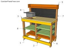 potting table with sink potting bench plans with sink free garden plans how to build