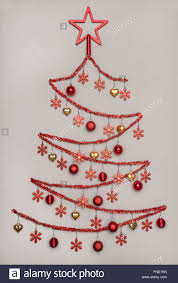 tinsel christmas tree handmad tinsel christmas tree with shape hanging baubles with