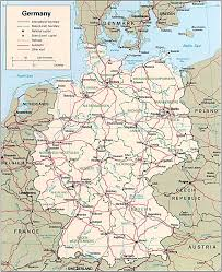 World Map Germany by Map Of Germany Germany Travel Map Germany Political Map