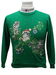 eighties womens girls cat tastic ugly christmas sweatshirt 80s