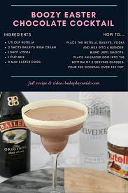 boozy easter chocolate cocktail boozy videos and vodka cocktail