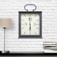 stratton home decor grey wall clock s02197 the home depot stratton home decor grey wall clock