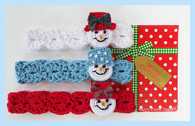 crochet headbands for babies crochet headband pattern snowman headband pattern christmas