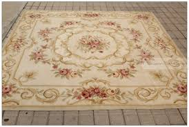 Antique Area Rug 7x7 Square Antique Decor Aubusson Area Rug Pastel Country