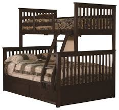 Espresso Twin Over Full Bunkbed With  Storage Drawers Craftsman - Twin over full bunk bed with storage drawers