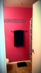 zebra bathroom decorating ideas my beautiful pink bathroom is complete for the home
