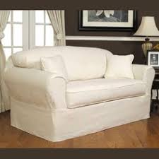 White Sofa Slip Cover by Gracie Sofa Slip Covered In An Off White Linen Large Flange