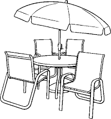 umbrella table and chairs umbrella table chairs coloring page color book
