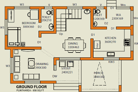 1650 sq ft 3 bhk floor plan image mgf builder classic villas