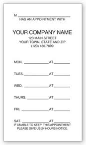 appointment cards imprinted two sided appointment business cards