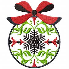machine embroidery design christmas ornaments 06