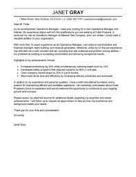manager cover letter templates best operations manager cover letter examples livecareer within