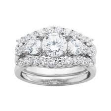 jcpenney wedding ring sets diamonart sterling silver bridal ring from jcpenney